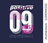 positive number typography... | Shutterstock .eps vector #1104544232