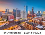chicago  illinois  usa downtown ... | Shutterstock . vector #1104544325