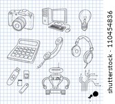 vector illustration of objects... | Shutterstock .eps vector #110454836