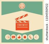 clapperboard icon symbol | Shutterstock .eps vector #1104550922