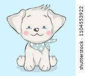 cute baby dog cartoon  for t... | Shutterstock .eps vector #1104553922