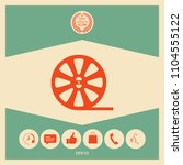 reel film icon   Shutterstock .eps vector #1104555122