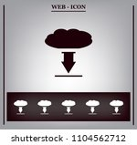 this image represents a cloud...   Shutterstock .eps vector #1104562712