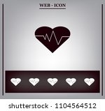 cardiology icon with heart and... | Shutterstock .eps vector #1104564512