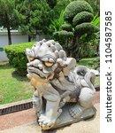 art asian beautiful buddhism... | Shutterstock . vector #1104587585
