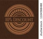 10  discount wooden emblem | Shutterstock .eps vector #1104588488