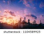 factory of petroleum industrial ... | Shutterstock . vector #1104589925