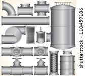 industrial pipeline parts. pipe ...