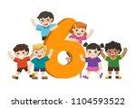 vector illustration set of... | Shutterstock .eps vector #1104593522