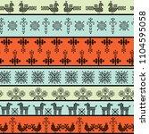 seamless pattern folk...   Shutterstock .eps vector #1104595058