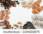 set of various leather sandals... | Shutterstock . vector #1104603875