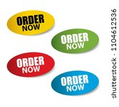 order now realistic sticker and ... | Shutterstock .eps vector #1104612536