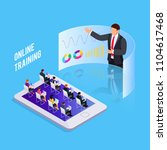 isometric concept online... | Shutterstock .eps vector #1104617468