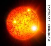 Sun In Outer Space With Intense ...