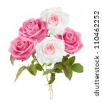 pink and white roses bunch... | Shutterstock . vector #110462252