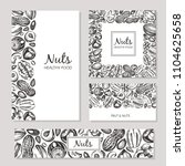 business cards with hand drawn ... | Shutterstock .eps vector #1104625658