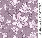 seamless purple pattern with... | Shutterstock .eps vector #1104626972