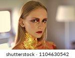 face fashion girl or women in... | Shutterstock . vector #1104630542