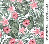 vintage tropical background... | Shutterstock .eps vector #1104632165