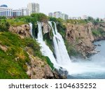 the waterfall of antalya... | Shutterstock . vector #1104635252