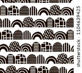 monochrome abstract pattern in... | Shutterstock .eps vector #1104639425