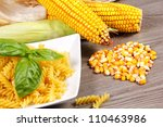 fresh corn cobs on the table | Shutterstock . vector #110463986