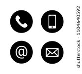 contact buttons set   email ... | Shutterstock .eps vector #1104640592