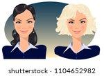 blonde and brunette  manager ... | Shutterstock .eps vector #1104652982