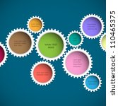 colorful abstract gear wheels.... | Shutterstock .eps vector #110465375