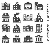 government building icons set... | Shutterstock .eps vector #1104659156
