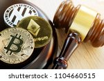 gavel and cryptocurrency.... | Shutterstock . vector #1104660515
