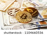 cryptocurrency coins on a... | Shutterstock . vector #1104660536