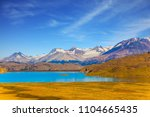 argentine patagonia. a mirror...   Shutterstock . vector #1104665435