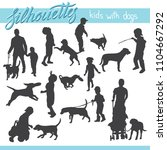 vector silhouettes of kids and... | Shutterstock .eps vector #1104667292