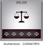 scales balance icon | Shutterstock .eps vector #1104667892