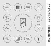 close icon. collection of 13... | Shutterstock .eps vector #1104671522