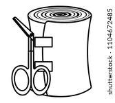medical bandage and scissors | Shutterstock .eps vector #1104672485