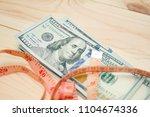 heap of money measurment. money ...   Shutterstock . vector #1104674336