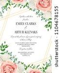 wedding floral invite ... | Shutterstock .eps vector #1104678155