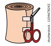 medical bandage and scissors | Shutterstock .eps vector #1104678242