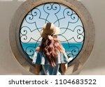 window in alfama  lisbon | Shutterstock . vector #1104683522