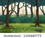 summer forest landscape vector... | Shutterstock .eps vector #1104685775