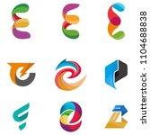 e  letters set of logo idea... | Shutterstock . vector #1104688838