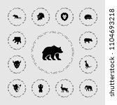 mammal icon. collection of 13... | Shutterstock .eps vector #1104693218