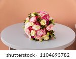beautiful bouquet with pink... | Shutterstock . vector #1104693782