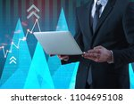 unrecognizable businessman... | Shutterstock . vector #1104695108