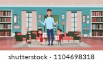 happy father day family holiday ...   Shutterstock .eps vector #1104698318