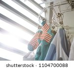 baby clothes keep stainless... | Shutterstock . vector #1104700088