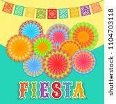 vector fiesta postcard with... | Shutterstock .eps vector #1104703118