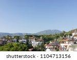 suburban area on sea | Shutterstock . vector #1104713156